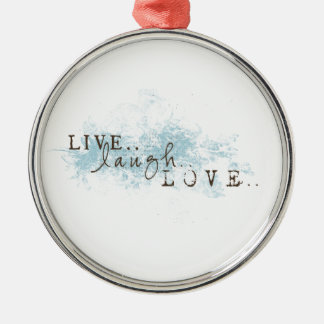 Live Laugh Love word art  Christmas Ornament