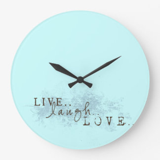 Live Laugh Love word art Clock Wall