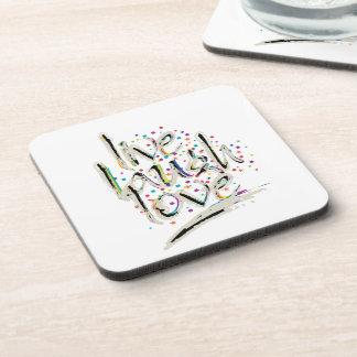 Live, Laugh, Love Words Coaster