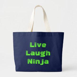 Live Laugh Ninja Jumbo Tote Bag