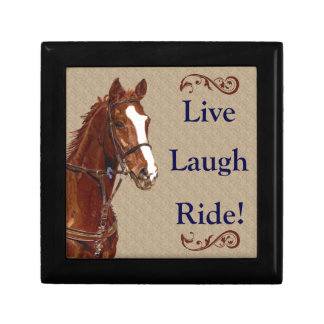 Live! Laugh! Ride! Horse Gift Box