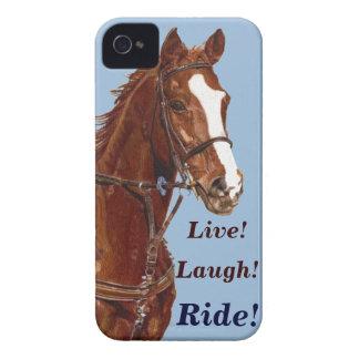 Live! Laugh! Ride Horse iPhone 4 Case