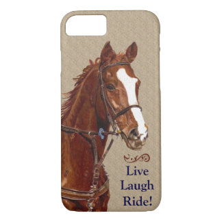 Live Laugh Ride! Horse iPhone 8/7 Case