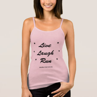 Live Laugh Run Spaghetti Strap Tank Top