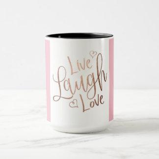 LIVE,LAUGH,SMILE INSPIRATIONAL MUG