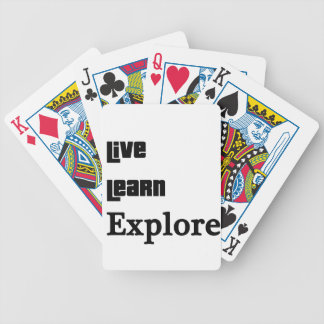 Live Learn Explore Bicycle Playing Cards