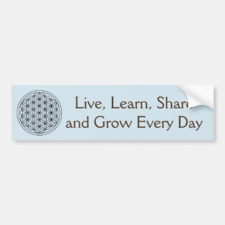 Live, Learn, Share Bumper Sticker