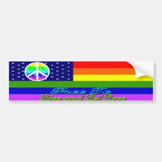 Live & Let Love Rainbow Peace Sticker