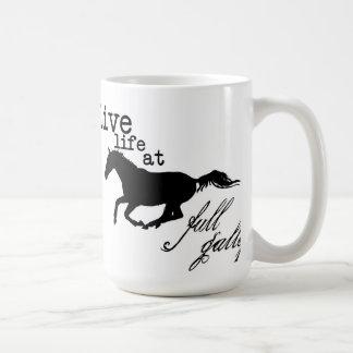 Live Life at Full Gallop Horse mug