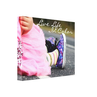 Live Life in Color Photography Gallery Wrapped Canvas