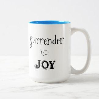 Live life joyfully, with inspirational sayings. Two-Tone coffee mug