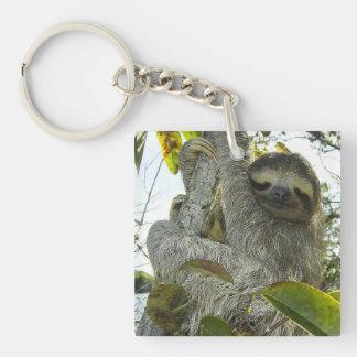 Live Life Like a Sloth Keychain