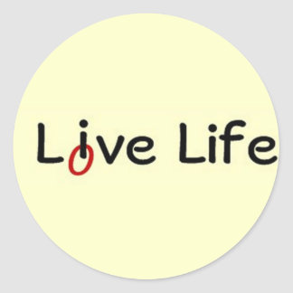 Live Life, Love Life Classic Round Sticker