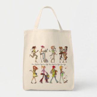 """""""live life. love life"""" women tote grocery tote bag"""