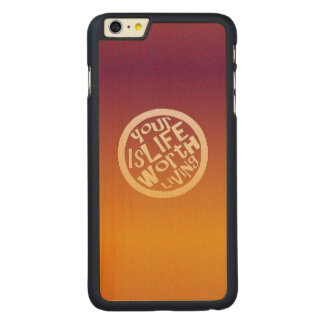 Live Life - Maple Wood Inlay Phone Case