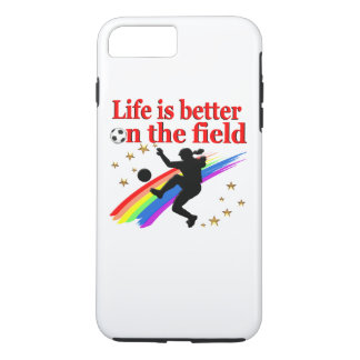 LIVE LIFE ON THE SOCCER FIELD iPhone 7 PLUS CASE