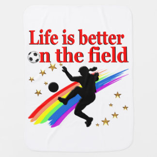 LIVE LIFE ON THE SOCCER FIELD RECEIVING BLANKET