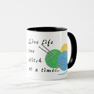 Live Life One Stitch at a Time Coffee Mug