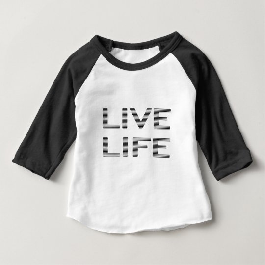 LIVE LIFE - strips - black and white. Baby T-Shirt