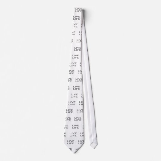 LIVE LIFE - strips - black and white. Tie