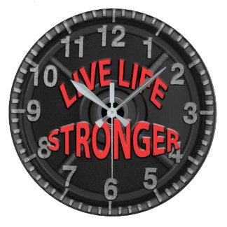 Live Life Stronger Clocks