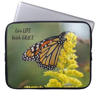 Live Life W/ Grace Monarch Neoprene Laptop Sleeve
