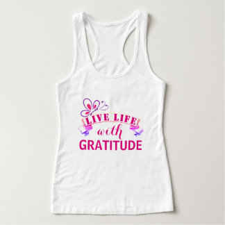 Live Life with Gratitude Tank Top