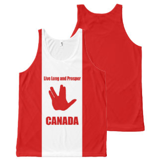 Live Long Canada All-Over All-Over-Print Tank Top