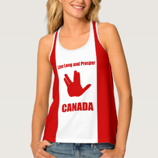 Live Long Canada Racerback Tank Top
