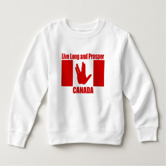 Live Long Canada Toddler Fleece Sweatshirt