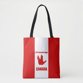 Live Long Canada Tote Bag