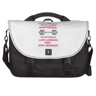LIVE LONGER STAY STRONGE COMMUTER BAGS