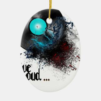 Live Loud Ceramic Oval Ornament
