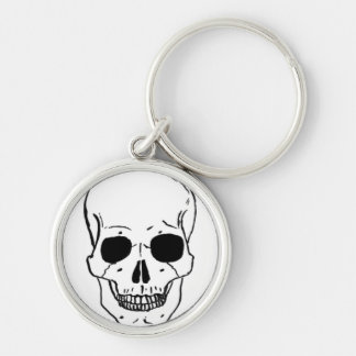 Live LOUD Silver-Colored Round Keychain