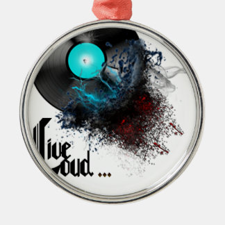 Live Loud Silver-Colored Round Ornament