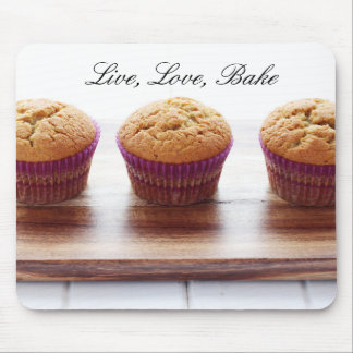 Live, Love, Bake Mouse Pad