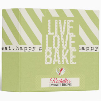 Live, Love, Bake Recipe Binder