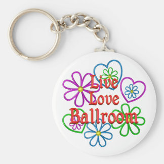 Live Love Ballroom Basic Round Button Keychain