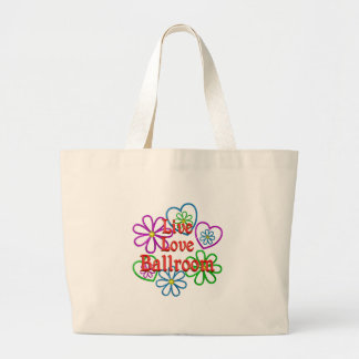 Live Love Ballroom Large Tote Bag