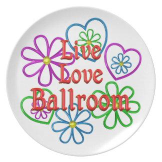 Live Love Ballroom Plate