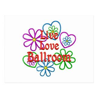 Live Love Ballroom Postcard