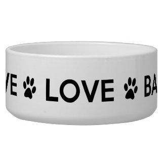 """Live Love Bark"" Large Dog Bowl"
