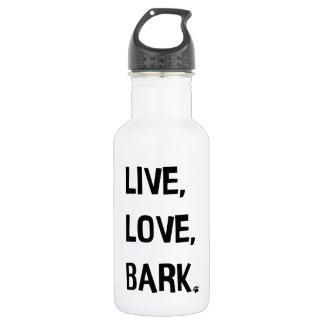Live, Love, Bark Water Bottle