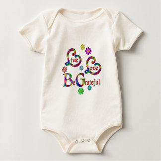 Live Love Be Grateful Baby Bodysuit
