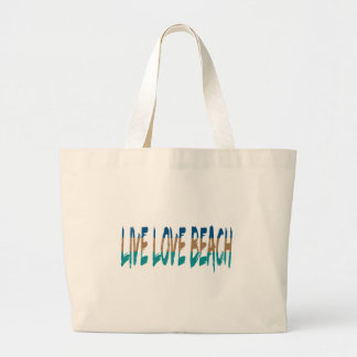Live Love Beach Large Tote Bag