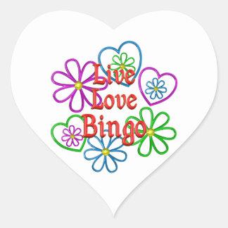 Live Love Bingo Heart Sticker