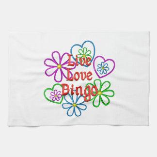 Live Love Bingo Kitchen Towel