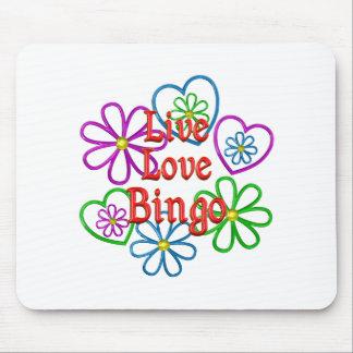 Live Love Bingo Mouse Pad