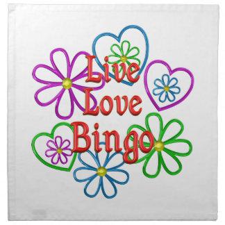 Live Love Bingo Napkin