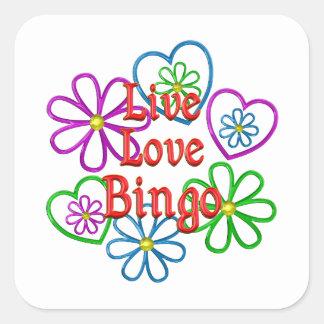 Live Love Bingo Square Sticker